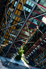 Going Up (stevedexteruk) Tags: bankside cradle workmen work high window tower london uk 2016 southwark