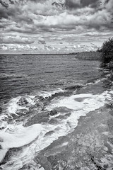 The Foam Of The Earth (Alfred Grupstra Photography) Tags: bw sky blackandwhite clouds foam ijselmeer lake andijk noordholland nederland nl