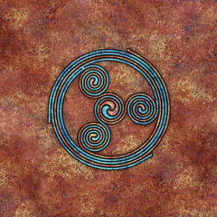 spirals (chrisinplymouth) Tags: spirality art pattern design spiral image whorl coil abstract cw69x artwork square symmetry curl digitalart triskele cw69sym symbol triskelion triplespiral celticspiral celtic rust trisquel geometric geometry cw69spiral