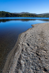 Loch Ard (dalejckelly) Tags: summer lake beach water sunrise landscape coast sand outdoor shore loch trossachs ard