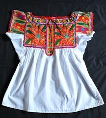 Chatino Blouse Oaxaca Mexico (Teyacapan) Tags: mexican textiles embroidered indigenous bordados oaxacan blouses blusas chatino santiagoyaitepec