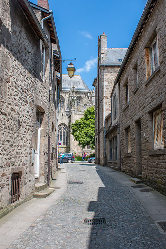 Rue de la Grâce à Dinan