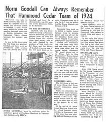 1924 Hammond Cedar (Maple Ridge Museum & Archives) Tags: baseball history hammond mapleridge