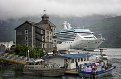 Too big! (Tigra K) Tags: sea usa mountain nature rain fog alaska boat town us ship unitedstates whittier 2011