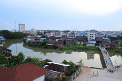 Chanthaburi River Bank (baddoguy) Tags: architecture bank bridgemanmadestructure businessfinanceandindustry cathedral catholicism christianity cityscape colorimage community constructionindustry cultures eastasia gothicstyle horizontal nopeople outdoors photography reflection religion restoring river riverbank thailand town urbanskyline waterfront