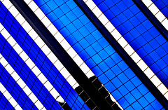 White Line Fever (Book'em) Tags: blue white toronto abstract geometric colors lines architecture buildings nikon colours geometry d800