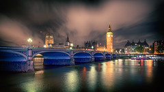 Big Ben at night II HSS! (Stefan Sellmer) Tags: architecture bigben bridge clouds gb hdr hss london night westminsterbridge classic details longexposure outdoor england vereinigtesknigreich attisch