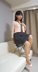 DSC08443 (mimo-momo) Tags: crossdressing crossdresser crossdress transvestite japanese onepiece skirt