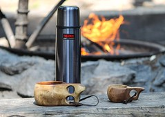 Kuksa (samulihokkanen) Tags: outdoors fire thermos kuksa woodencup