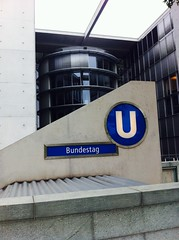 Bundestag Berlin (Per Olof Forsberg) Tags: german bundestag berlin subway station metro ubahn tunnelbana underground u