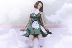 Doll (Allison Coles) Tags: surrealphotography allisoncolesphotography doll stuffing dress clouds girl