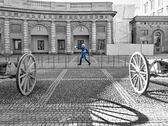 Toy Soldier (Wormsmeat) Tags: stockholm sweden soldier cannons blue olympus omdem5mk2 selectivecolour march