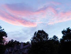 Summer Sunset in the Burbs (Explored) (lclower19) Tags: sunset 2952 522016 home frontdoor chain