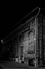 Steam brewery (PetrSk) Tags: brewery night light bw blackwhite building brno architecture historical moravian monochrome pentax pentaxart czech