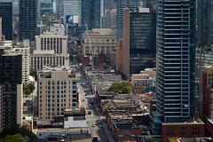 Yonge Street (Jack Landau) Tags: yonge street toronto city urban downtown buildings architecture aerial view ontario canada density wall glass towers