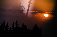 The other side (Melissa Maples) Tags: antalya turkey trkiye asia  nikon d5100   nikkor afs 18200mm f3556g 18200mmf3556g vr manavgat serik evening dusk sundown sunset summer reflection silhouette window