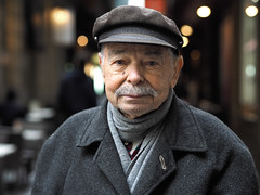 George (Peter Grifoni) Tags: peter grifoni gtpete gtpete63 the human family group street stranger portrait portraiture olympus omd em1 zuiko 45mm f18 melbourne city centre lane greek george hat moustache