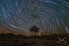 Joshua Tree Vortex Spiral Star Trail (Mike Ver Sprill - Milky Way Mike) Tags: vortex spriral star trail wall street mill joshua tree national park california cali trails mv milky way mike michael ver sprill versprill stars rocks long exposure night sky barkers dam mine mining landscape cosmos galaxy universe amazing beautiful stacked june 2016 nikon d600 14mm samyang rokinon starstax stax urbex sand midnight explorer startrails spiral gary fong strobe selfie self portrait texture web twisting tutorial learn how make create