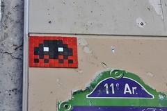 Invader_7299 Paris 11 (meuh1246) Tags: streetart paris invader spaceinvaders mosaque ruecharlesluizet paris11