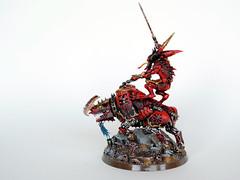 Za'khar, Herald of the Bloodtide (Uruk's Customs) Tags: warhammer wh40k chaos space marines khorne daemonkin world eaters daemons herald juggernaut bloodletter bloodcrusher