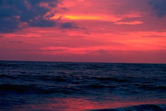 Colours  of nature (Rajavelu1) Tags: sea arabiansea colours red blue sky water wave beach beautyofnature sunset art artland creative canon6d internationalphotographer travel toor kerala india mostbeautifulpicture