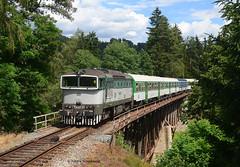 754 031-3 CD (vsoe) Tags: eisenbahn bahn personenzug diesellok taucherbrille cd ceskedrahy train passengertrain railway railroad engine czech tschechien