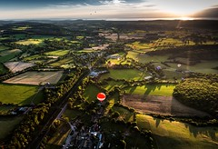 A green and pleasant land... (Rep001) Tags: hot air balloon ashton court international fiesta long bypass bailey balloons red letter bristol north somerset england