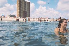 Tracey enjoying Saturday (andrewkatchen) Tags: asburypark newjersey jerseyshore beach nikon film 35mm portra400 n6006