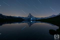 Matterhorn Starttrail (MD-Pic) Tags: matterhorn stars startrails sterne sternstrichspuren nacht nikon night d7100 schweiz swiss switzerland see landschaft landscape lake langzeitbelichtung longexposure reflection spiegelung stellisee alpen alps