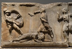 Slab of the Amazonomachy frieze from the Mausoleum at Halikarnassos, Mausoleum at Halicarnassus, British Museum (Following Hadrian) Tags: mausoleum bodrum halicarnassus caria halicarnassos maulossos