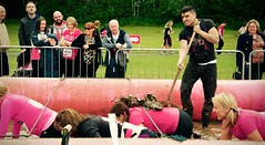 'Pretty Muddy'  for Cancer Research UK (DeeMc81) Tags: charity uk pink ireland water race fun nikon flickr pretty mud cancer belfast racing research shovel spectators awareness muddy supporters ulster craic spade raceforlife 2015 cancerresearchuk ormeaupark beatcancer prettymuddy followback