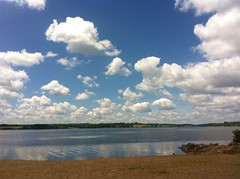 Petite balade dimanche 31 mai (karine_avec_1_k) Tags: blue sky cloud lake happy lac bleu ciel moto nuage bonheur