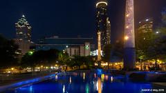 Atlanta, GA: Centennial Olympic Park Reflecting Pool (nabobswims) Tags: atlanta night georgia us unitedstates reflectingpool hdr highdynamicrange centennialolympicpark nabob nabobswims