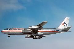 N7588A American 707-123B landing at KCLE (GeorgeM757) Tags: airplane aircraft aviation landing american boeing kcle alltypesoftransport 707123b georgem757 n7588a