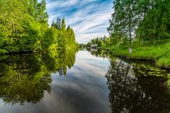 Seinjoki (Tuomo Lindfors) Tags: reflection water suomi finland river vesi seinjoki 2015 heijastus joki colorefexpro niksoftware kyrnjoki viveza kirjastopivt theacademytreealley