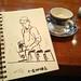 GW唯一の休日らしい休日です #sketch #sketchbook #cafe #cafesketch #ginza #yurakucho #Tokyo #銀座 #有楽町
