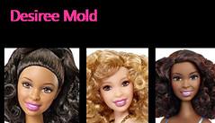 Fashionistas Mold - Desiree (Willyssa) Tags: summer girl mouth closed faces head goddess barbie skipper lea desiree teresa asha millie generation fashionistas molds 2016 2015 raquelle mbili