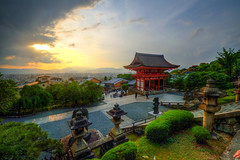 Sunset at Kiyomizu-Dera (ap0013) Tags: sunset sun beautiful hdr japan kiyomizu dera kiyomizudera kyotojapan kyoto temple japanese asia asian   buddhist kytoshi kytofu