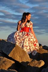 Elizabeth Miller (Clandrew) Tags: clandrew portlandbatteries portlandbill portland dorset dress scarlettohara vintage