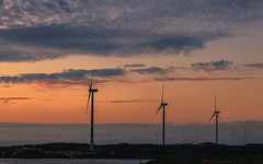 Ready for clean energy (tribsa2) Tags: nederlandvandaag marculescueugendreamsoflightportal weatherphotography sunset sky seaside seascape shoreline windturbine