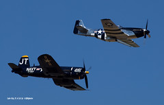 160410_19_LC_TobulQuickSilver (AgentADQ) Tags: jim tobul scott yoak vought f4u4 corsair north american p51d mustang quick silver korean war hero gateway florida air show 2016 lake city fighter plane warbird airplane flying