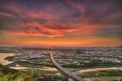 (szintzhen) Tags: sunset sky cloud river taiwan      sunglow      newtaipeicity
