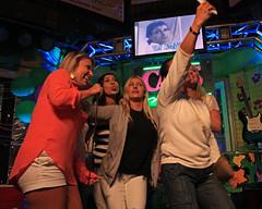 Karaoke at Cat's Meow. (Flagman00) Tags: karaoke catsmeow neworleans frenchquarter  milf gilf hotchicks hot pretty sexy women grandma mom singing stage nightlife group drunk horny selfie