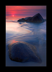 Nordstrand III (hmnx) Tags: nordstrand rgen sunset rocks waves clouds sky