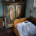 Antique German bed and wardrobe