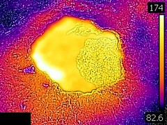 Thermal image of Copper Kettle (afternoon, 3 June 2016) (James St. John) Tags: copper kettle geyser hill group upper basin yellowstone hotspot volcano wyoming hot spring springs thermal image photo picture temperature