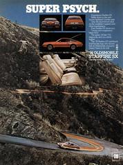 1976 Oldsmobile Starfire SX (Tom Simpson) Tags: 1976oldsmobilestarfiresx oldsmobile car starfire 1976 1970s vintage ad ads advertising advertisement vintagead vintageads mountain road