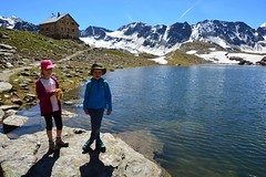Hintergrathtte (Rifugio Coston) (giorgiorodano46) Tags: luglio2016 july 2016 giorgiorodano nikon hintergrathutte rifugiocoston parconazionaledellostelvio italy alps alpes alpi alpen mountainlake valentina mattia kids hiking morning