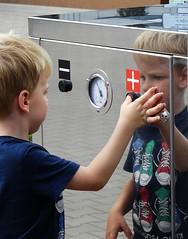 Twins (Aga Dzicio) Tags: twins boy kid child boyhood childhood petrolstation reflection compressor enfant garcon enfance chopiec dziecistwo dziecko
