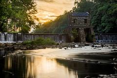 Speedwell Dam (Mike M Martin) Tags: sunset morristown dam water creek river park newjersey teamcanon